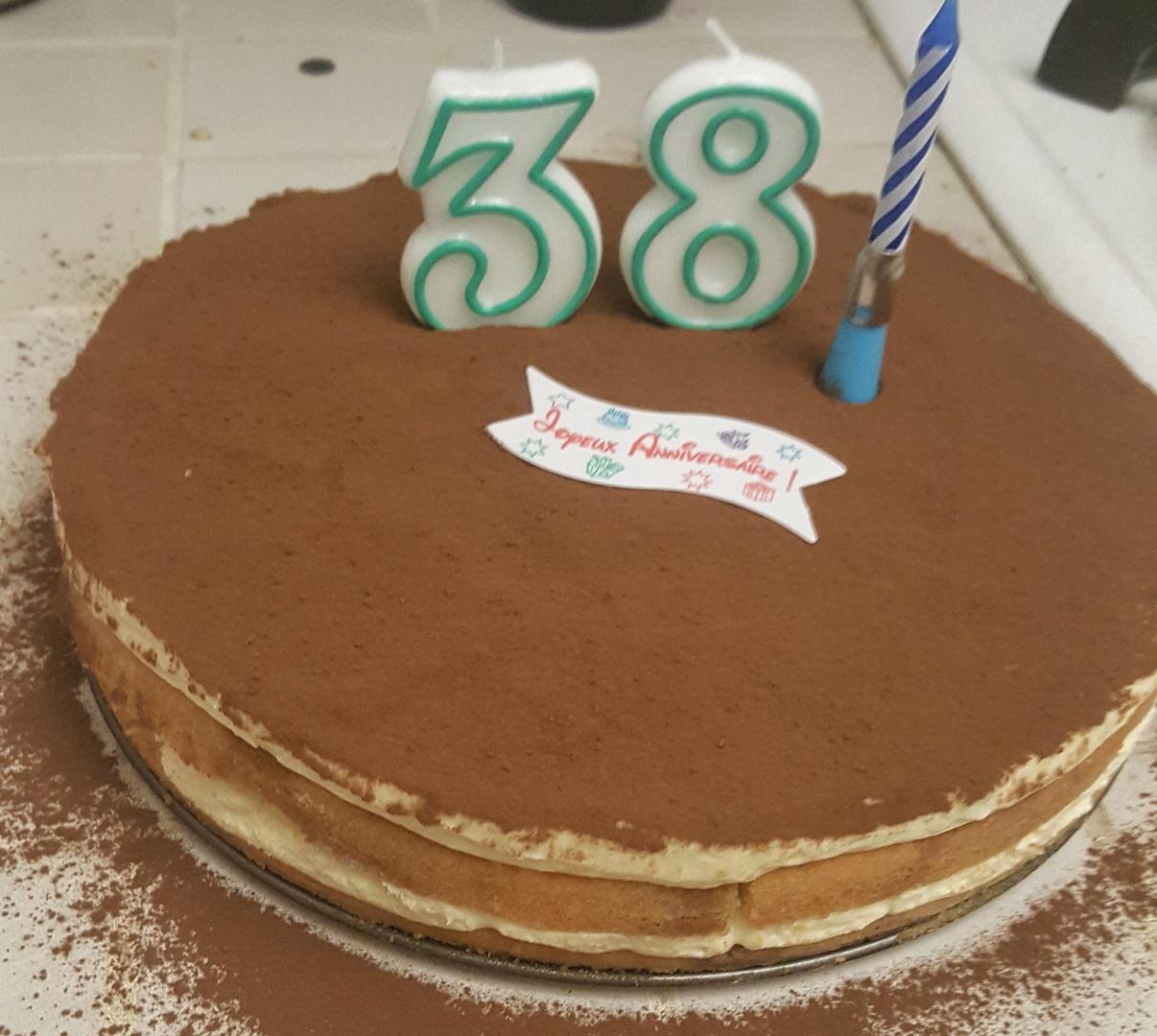 gâteau tiramisu anniversaire