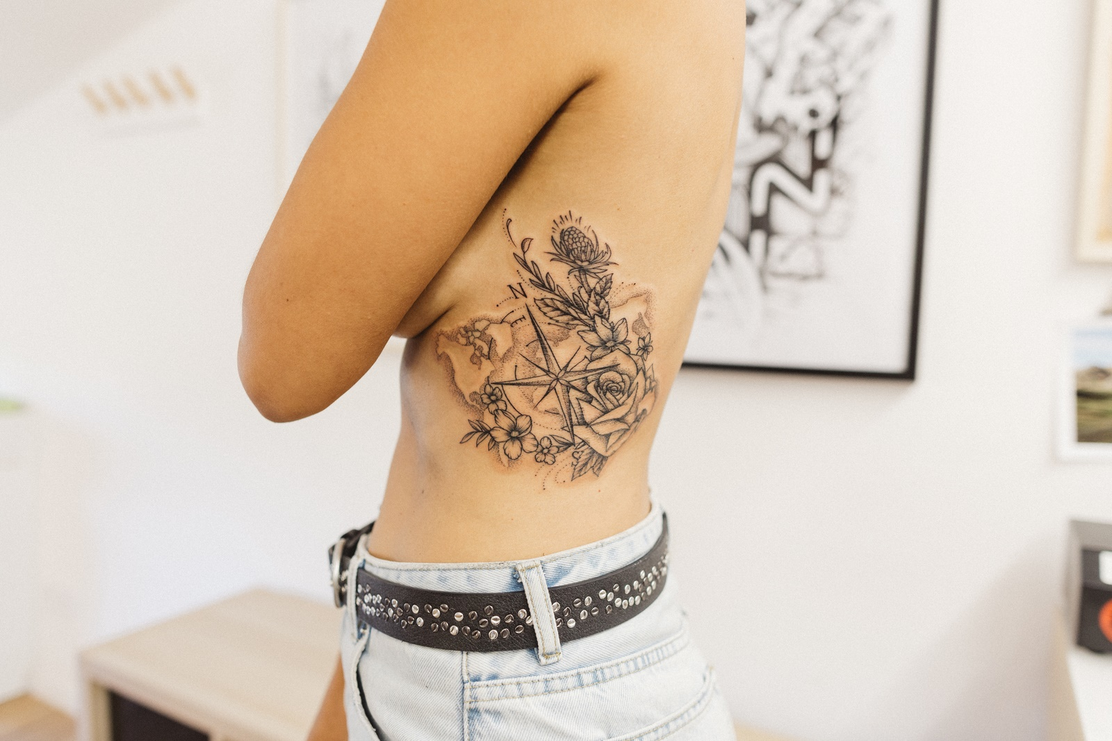 Rose Des Vents Carte Du Monde Tatouage Jenychooz Maksim Lopez