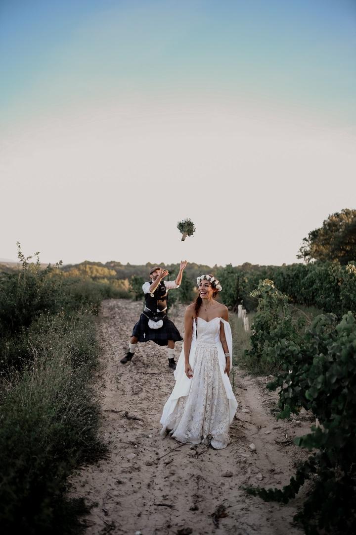 lancée bouquet mariée mariage
