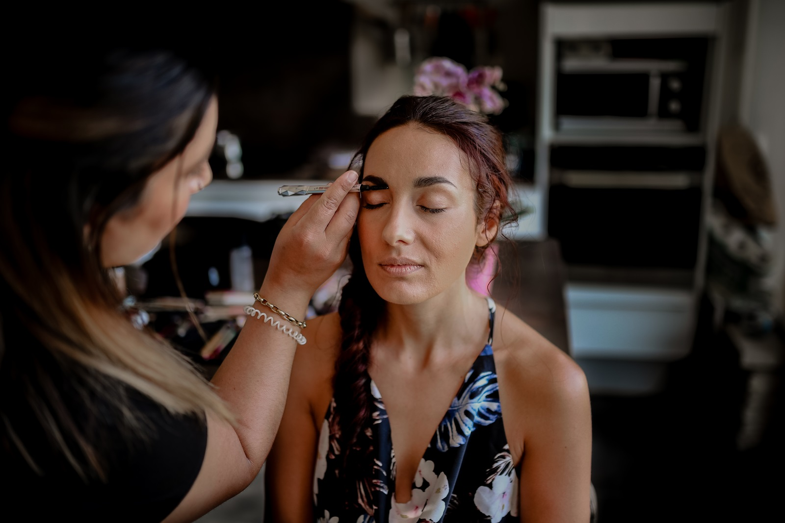 maquillage mariée or mama syca beauté