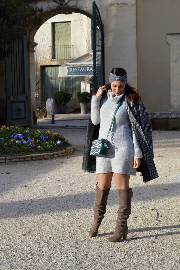 Jenychooz robe pull et cuissardes look hiver