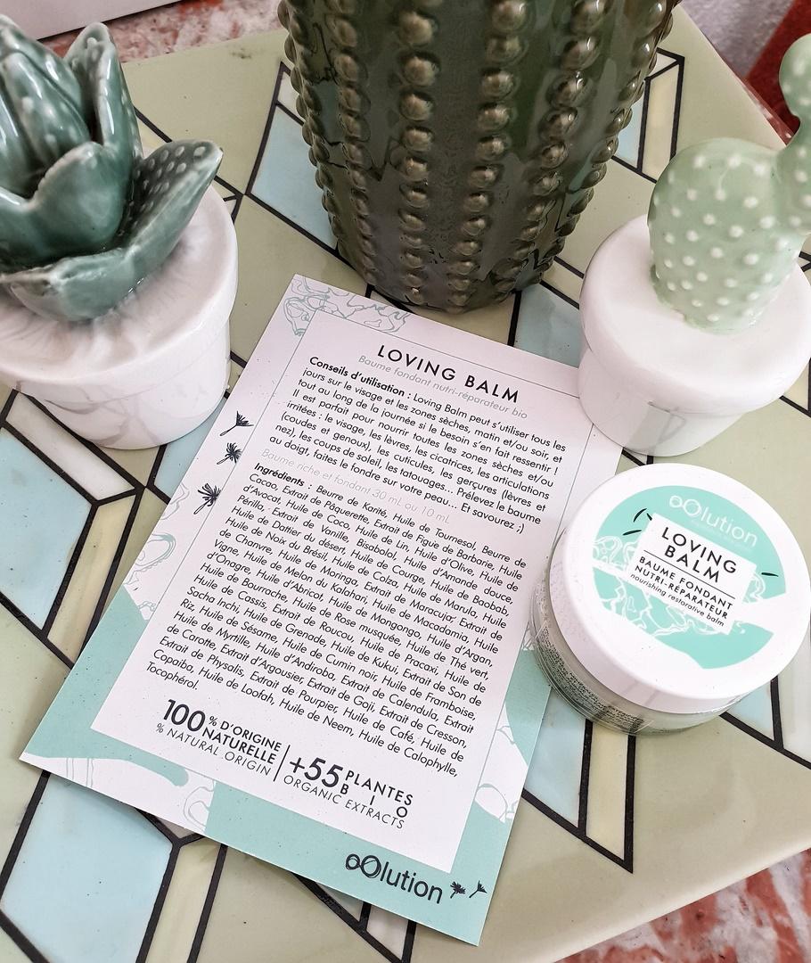 Oolution cosmétique bio naturel loving balm soin