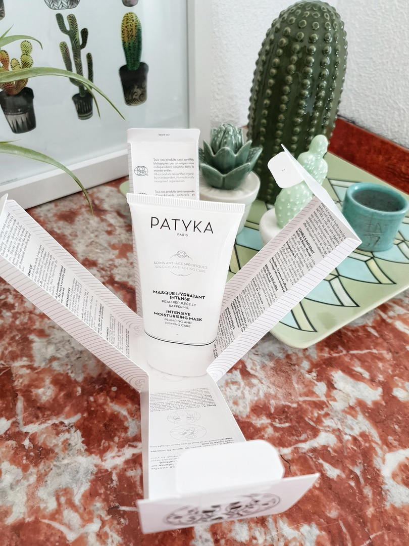 packaging masque hydratant intense Patyka