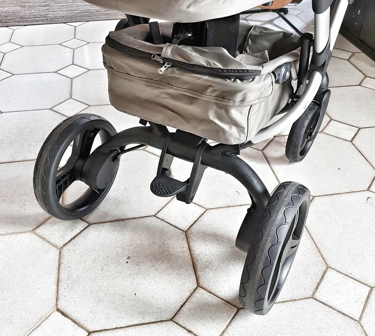 poussette duo bonavi frein roues solides robustes