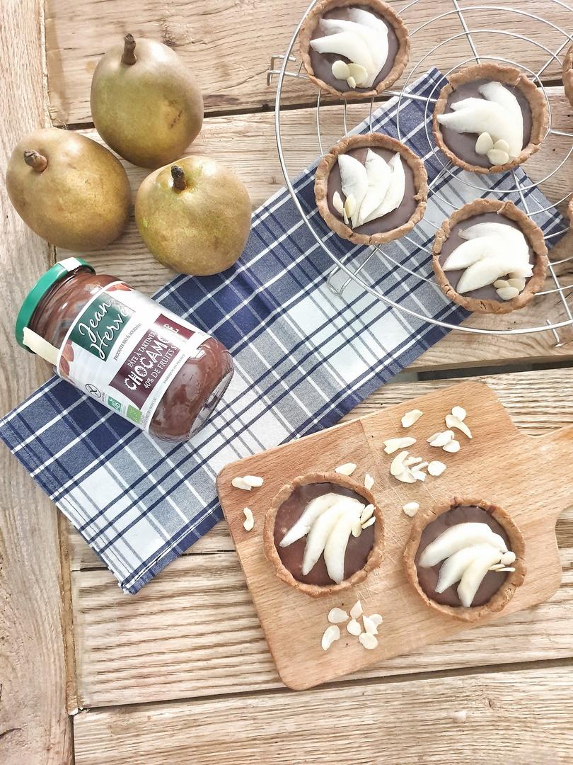 recette de tartelettes aux poires et Chocamore
