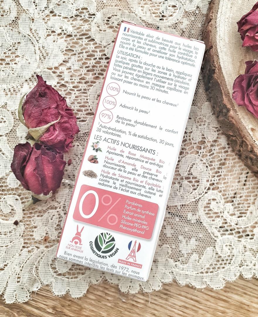 Huile de beauté à la Rose Musquée Hydraflore test