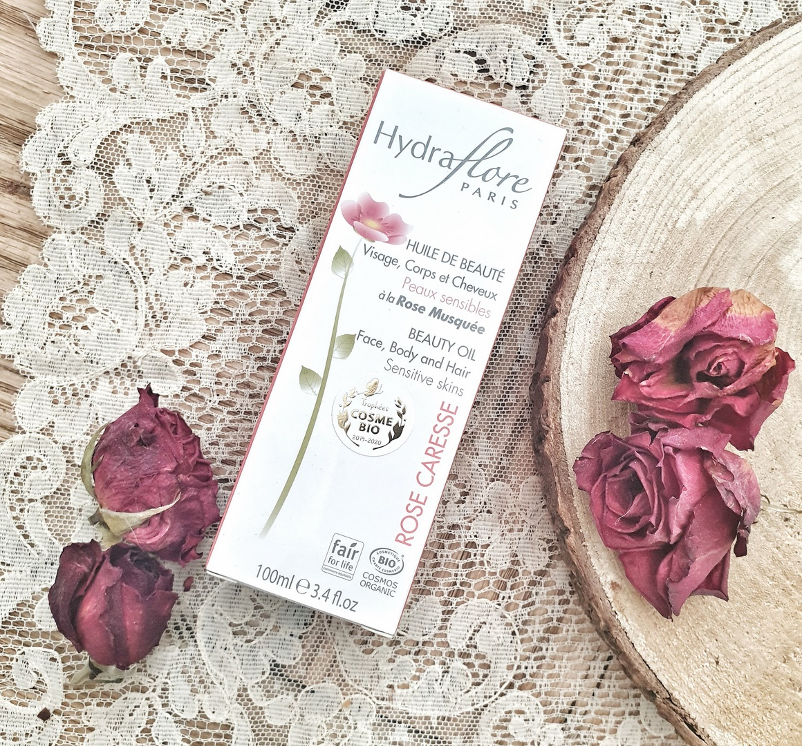Huile de beauté à la Rose Musquée Hydraflore