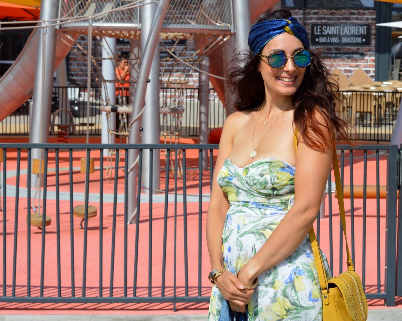 Jenychooz robe bustier à fleurs blogueuse mode Vaucluse