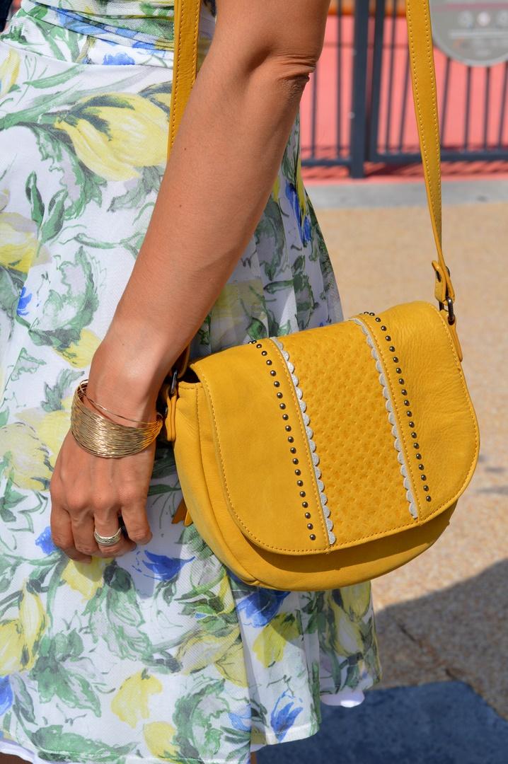 sac jaune Fuchsia Paris