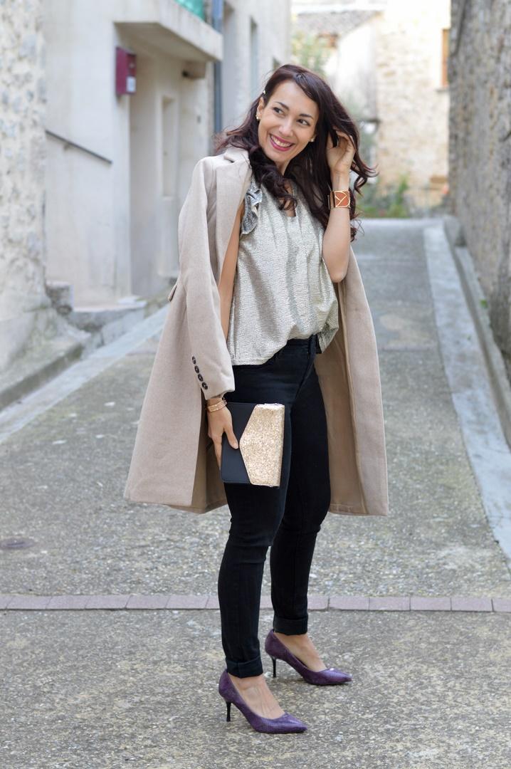 manteau beige Blancheporte look chic