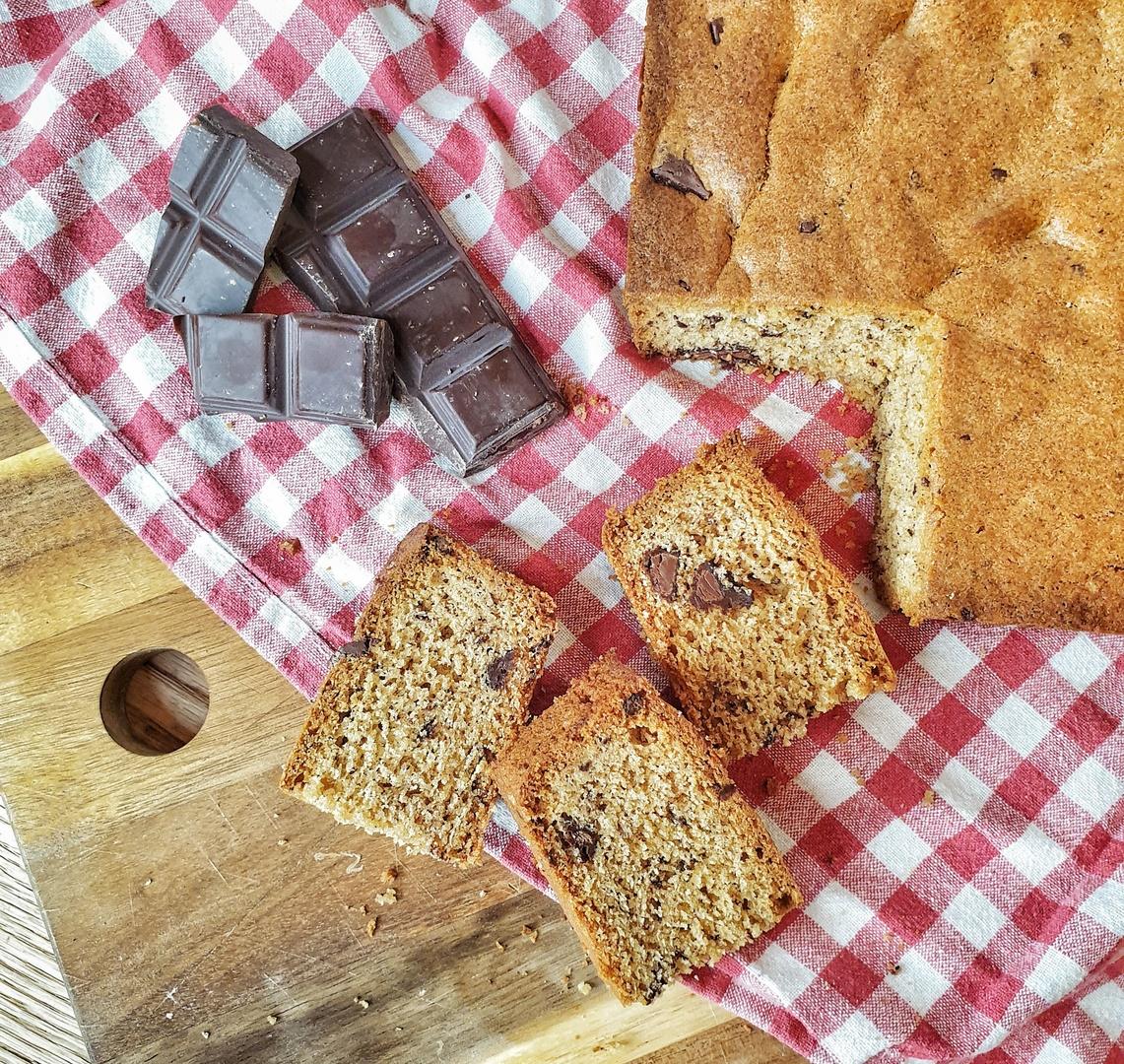 cake à la purée de noisettes vanille et chocolat
