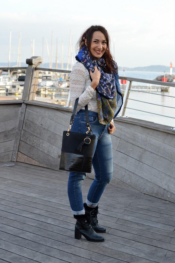 tenue féminine jean slim
